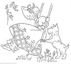 vintage hand embroidery | Bonnet Ladies Scottie Dog Vintage Designs Hand Embroidery Mail Order ...
