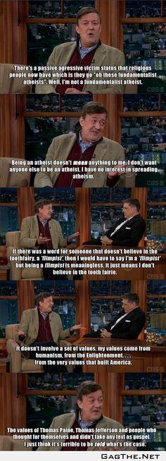 Ladies and gentlemen, Stephen Fry