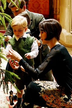 Downton Obsession tumblr | Lady Mary Crawley and George Crawley, Downton Abbey Christmas Special 2014