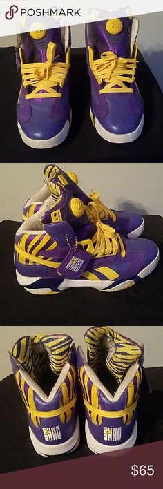 96dd99728705 Shaq Attack Reebok pumps Lakers Edition Worn times fairly new