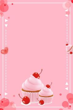 Wallpaper Backgrounds, Iphone Wallpaper, Pink Roses Background, Cupcakes Wallpaper, Cupcake Logo, Cupcake Card, Cocktail Party Themes, Cake Logo Design, Boarder Designs