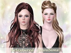 Nightcrawler's and Newsea's hairs retextured by Jennisims - Sims 3 Downloads CC Caboodle