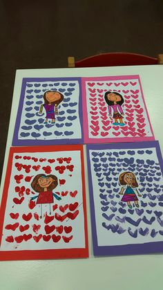 Mamma gemolt, an Haerzer gestempelt Kindergarten, Literacy Games, Free Teaching Resources, Grandparents Day, Mothers Day Crafts, Mother And Father, Nursery Art, Art Education, Fathers Day
