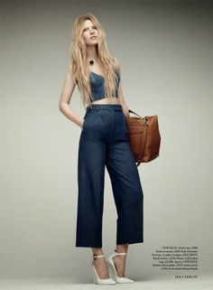 Mis Queridas Fashionistas: Back in Blue: Harper's Bazaar UK march 2014 - Editorial Fashion