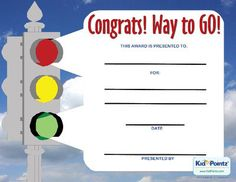 Printable Congratulations Award  Kid Pointz  Preschool Goodbye