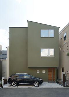 オリーブグリーンな家 ・間取り(東京都世田谷区)   注文住宅なら建築設計事務所 フリーダムアーキテクツデザイン