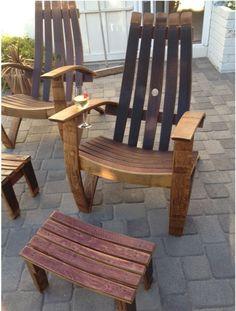 wine barrel furniture | Recycled... Wine Oak barrel lounge chairs | Ideas for Tyler