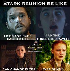 """GOT. - Stark Reunion  InstaThrones (@gameofthronesnotofficial) on Instagram: """"True  #stark #GoTS7 #gameofthrones #hbo"""""""