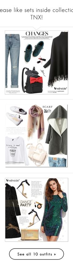 """""""Please like sets inside collection. TNX!"""" by aurora-australis ❤ liked on Polyvore featuring Current/Elliott, Armani Privé, Sheinside, WithChic, Laurence Dacade, Dickies, scarf, Gucci, danceparty and Neutrogena"""