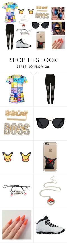 """""""pokemon"""" by jenadieu ❤ liked on Polyvore featuring River Island, Quay, Casetify and NIKE"""