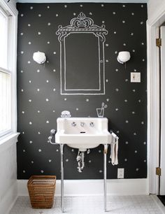 love this! i've always wanted to try eliminating mirrors in my house to lessen the importance of body image and looking good. this makes it so there isn't just empty space on the wall. ABSOLUTELY love it :)