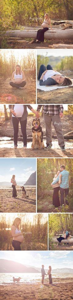 Maternity Photography | Beach & Dog