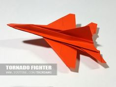 How to make an F15 Paper Plane 折り紙 ジェット - YouTube