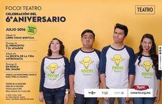 #NIÑOS #Sabíasque este mes de julio FOCO Teatro celebra seis años de grandes historias inolvidables personajes y risas incontrolables... Acompáñanos a decir: FELICIDADES! #EstoEsCONARTE