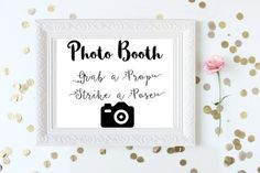 INSTANT DOWNLOAD  Wedding Photo Booth Sign  by ShineLikeSunbeams