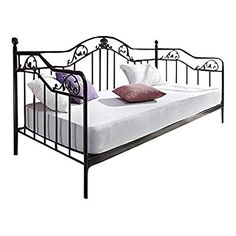 Metallbett schwarz  Romantisches Bett Metallbett Schwarz Weiss | Schlafzimmer ...