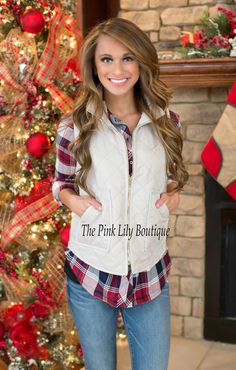 At The Derby Champagne Quilted Vest - The Pink Lily Boutique