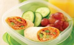 Smart Pizza Wrap-Ups - Great even cold....For more ideas for school lunches visit https://www.facebook.com/SchoolLunchIdeas