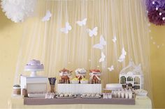 Beautiful Party Table for a butterfly-themed party