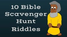 you're looking for Bible scavenger hunt riddles, here's a free printable worksheet and game idea with 10 riddles about Bible characters Scavenger Hunt Riddles, Scavenger Hunt For Kids, 10 Riddles, Youth Lessons, Bible Lessons For Kids, Bible For Kids, Bible Games For Youth, Christian Games For Youth, Sunday School Games