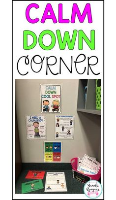 Every classroom should have a calm down corner where students can go to when they need a break and get calm. Great for enforcing positive behavior for the classroom. Gives ideas on how to set up the calm down corner and what to put in this area. Autism Classroom, Special Education Classroom, Preschool Classroom, Kindergarten, Classroom Decor, Feelings Preschool, Classroom Organisation, Classroom Behavior Management, Behaviour Management