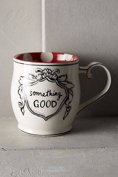 Something Good. I love this mug!  Crowned Leaf Mug - anthropologie.eu