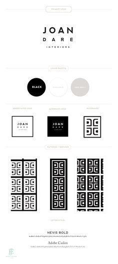 Branding Design for Joan Dare Interiors  | Luxury Branding, Logo, Original Pattern Design | Interior Design Brand www.emilymccarthy.com