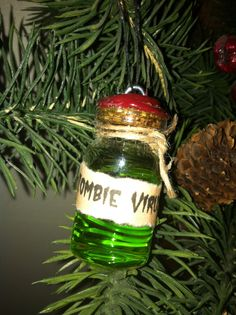 Zombie Virus Ornament by CrazyMomOf3Creations on Etsy, $5.00