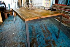 Modern Reclaimed Dining Table by Endever77 on Etsy, $1800.00