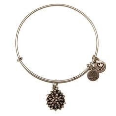 """Water Lily Alex and Ani Charm Bangle  """"Living in difficult conditions, the water lily is a symbol of beauty through turmoil. Rising above the water to extract energy from the sun, the water lily is a reminder that perseverance will lead to enlightenment and a reawakening."""""""