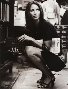 i've always had a girlee crush on the classic beauty christy turlington ... she is timeless and breath taking
