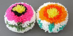 Making Flower Pom-poms with a DIY Pom-pom maker - Mr Printables Blog  Free Photo Tutorial: http://blog.mrprintables.com/making-flower-pom-poms-diy-pom-pom-maker/  #TheCrochetLounge #pompom #flowers