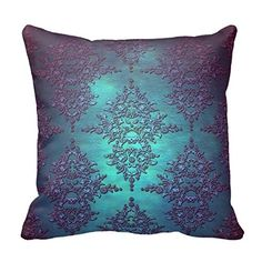 HOMALL Square Fancy Teal to Purple Damask Pattern Throw Pillow Covers Cotton and Polyester Throw Pillow Case Shell Home Decorative Cushion Cover 18x18 inches(One Side) Pattern Pillowcase http://www.amazon.com/dp/B010Q2PGOG/ref=cm_sw_r_pi_dp_PIVQvb0VH2FRG