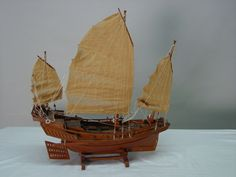 PAINTINGS OF CHINESE JUNKS | Chinese junk sail boat model.jpg