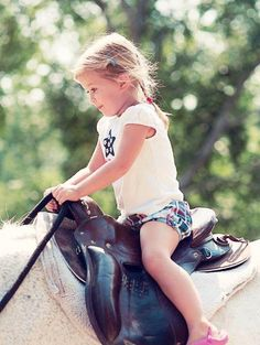 """Emma Kate, a new #actionrider, riding a trusted and well known #endurance #horse, Kaboot - the main character in the book """"The Lighter Side of Endurance."""" Angie McGhee writes: """"This is one of his jobs as a 26 year old retiree with over 3000 miles and 7 one day 100's. The look on her face was just bliss!"""""""