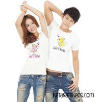 KKK002 Kaos Couple Cute She's He's Mine TShirt #Bajucouple #couple #kaoscouple #Kaoskembar
