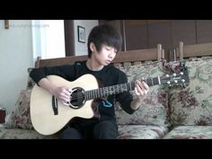 young man plays excellent guitar