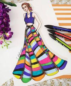 . #fashionartist #fashiondesigner #fashiondrawing #fashionillustrator #fashionsketch #fashionsketchbook #fashionillustration #instaart… Dress Design Drawing, Dress Design Sketches, Fashion Design Sketchbook, Fashion Design Drawings, Fashion Sketches, Fashion Figure Drawing, Fashion Model Drawing, Fashion Drawing Dresses, Dress Illustration