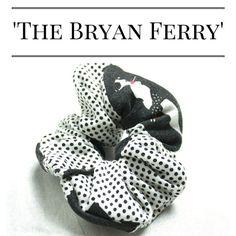Hair Scrunchie 80s 90s Hair Tie 'The Bryan Ferry' by FannyAdamsVC