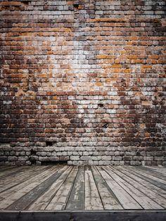 Kate 6.5x10ft plancher en bois et mur de briques milieux intérieur de mariage décors pour studio de photographie