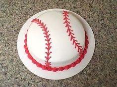 baseball cake for Logan's bday