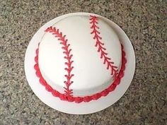 baseball cake for Logan's bday