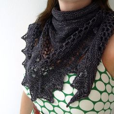 Aestlight Shawl by Gudrun Johnston | malabrigo Sock in Eggplant