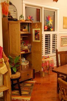 Waldorf inspired craft room ...majd ha egyszer lesz egy alkotóház, ilyen stílusú lesz a műhely benne....