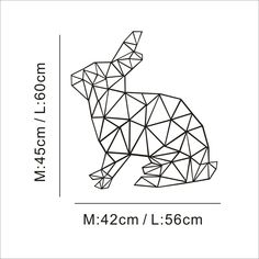 Beauty comes in all shapes and sizes. - x cm) - 50 x 70 cm Our images are. Geometric Drawing, Geometric Art, Diy Wall Stickers, Wall Decals, 3d Pen Stencils, Bunny Tattoos, Tape Art, Pvc Wall, Paper Crafts Origami