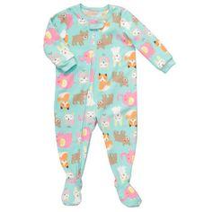 GET: 1-Piece Microfleece Pjs | Toddler Girl Pajamas