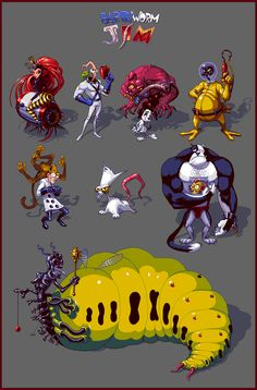 Earthworm Jim - Fan Sprites Pixel Artist:Wolfenoctis Source:pixeljoint.com