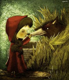 ".""Little Red Riding Hood"" #illustration by Burt Ozturk"