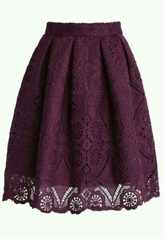 Purple Dream Full Lace Skirt - Skirt - Bottoms - Retro, Indie and Unique Fashion -Rehearsal or Shower Outfit Unique Fashion, Modest Fashion, Look Fashion, Autumn Fashion, Jw Fashion, Fashion Quotes, Street Fashion, Jw Mode, Dress Skirt
