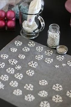 DIY Snowflakes To Float On Top Of Hot Chocolate